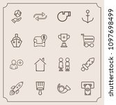 modern  simple vector icon set... | Shutterstock .eps vector #1097698499