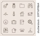 modern  simple vector icon set... | Shutterstock .eps vector #1097699864