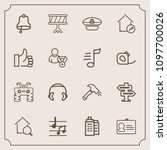 modern  simple vector icon set...   Shutterstock .eps vector #1097700026