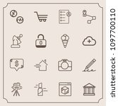 modern  simple vector icon set...   Shutterstock .eps vector #1097700110