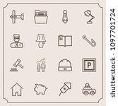 modern  simple vector icon set...   Shutterstock .eps vector #1097701724