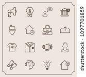 modern  simple vector icon set...   Shutterstock .eps vector #1097701859