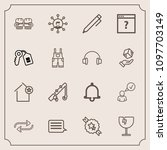 modern  simple vector icon set... | Shutterstock .eps vector #1097703149