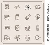 modern  simple vector icon set... | Shutterstock .eps vector #1097703170