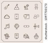 modern  simple vector icon set...   Shutterstock .eps vector #1097703173