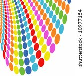 vector   halftone colorful... | Shutterstock .eps vector #10977154