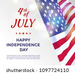 independence day of usa 4 july ....   Shutterstock .eps vector #1097724110