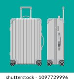 silver travel bag. plastic case.... | Shutterstock . vector #1097729996