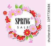 spring sale background with... | Shutterstock .eps vector #1097730686