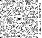graphic floral seamless pattern.... | Shutterstock .eps vector #1097731718