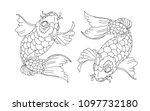 koi carp vector isolate for... | Shutterstock .eps vector #1097732180