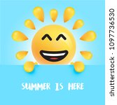 funny sun smiley with the title ... | Shutterstock .eps vector #1097736530