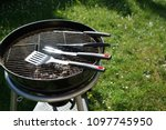 cutlery for sausages barbecue... | Shutterstock . vector #1097745950