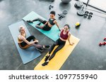 high angle view of young... | Shutterstock . vector #1097755940