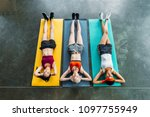 high angle view of three... | Shutterstock . vector #1097755949