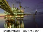 oil and gas offshore platform... | Shutterstock . vector #1097758154