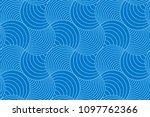blue two tone geometric line... | Shutterstock .eps vector #1097762366