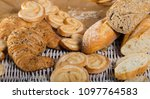 image of various kinds of bread ...   Shutterstock . vector #1097764583