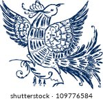 fairy bird | Shutterstock .eps vector #109776584