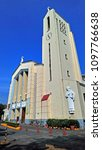 Small photo of QUEZON CITY, PH-MAR. 30: Santo Domingo Church facade on March 30, 2018 in Quezon City, Philippines. Santo Domingo Church is the largest church in Metro Manila and one of the biggest churches in Asia.