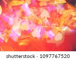 vintage color bokeh background. ... | Shutterstock . vector #1097767520