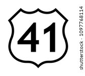 us route 41 sign  black and... | Shutterstock .eps vector #1097768114