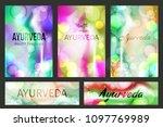 aayurveda brochure templates... | Shutterstock .eps vector #1097769989