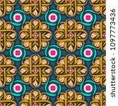 morocco arabesque seamless... | Shutterstock .eps vector #1097773436
