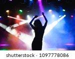 Silhouette of dancing girl...
