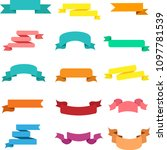 set of bright colorful ribbons...   Shutterstock .eps vector #1097781539