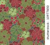 floral retro pattern | Shutterstock .eps vector #10977850