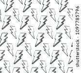 grunge graphic thunder hand... | Shutterstock .eps vector #1097785796