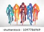cycling race stylized... | Shutterstock .eps vector #1097786969