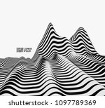 landscape background. terrain.... | Shutterstock .eps vector #1097789369