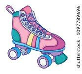 roller skate style fun sport | Shutterstock .eps vector #1097789696