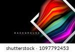 liquid fluid colors holographic ... | Shutterstock .eps vector #1097792453