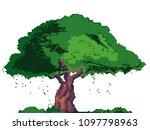 vector illustration of pixel...