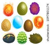dragon eggs vector cartoon egg...   Shutterstock .eps vector #1097801174