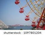 ferris wheel of kobe harborland ... | Shutterstock . vector #1097801204