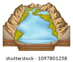 lake  area filled with water... | Shutterstock . vector #1097801258