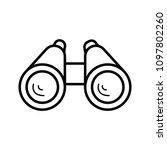 binoculars icon vector | Shutterstock .eps vector #1097802260