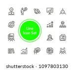 set of presentation line icons | Shutterstock .eps vector #1097803130