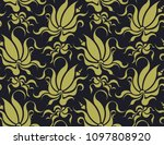 abstract floral seamless... | Shutterstock .eps vector #1097808920