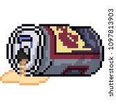 Vector Pixel Art Can Empty Junk ...