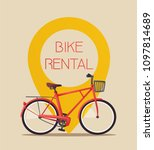 bike rental. bicycle sign for... | Shutterstock .eps vector #1097814689