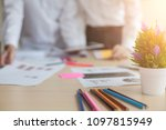 finance managers meeting... | Shutterstock . vector #1097815949