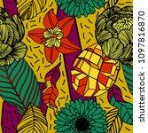 print summer exotic jungle... | Shutterstock .eps vector #1097816870