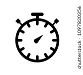 stopwatc flat icon. timer icon   Shutterstock .eps vector #1097820356