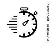 chronometer flat linear icon   Shutterstock .eps vector #1097820359
