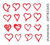 heart icon design hand draw | Shutterstock .eps vector #1097821643